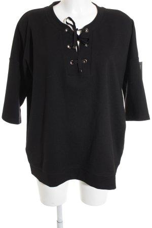 Opus T-Shirt schwarz schlichter Stil