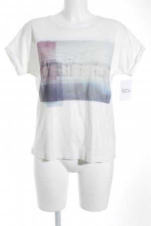 Opus T-Shirt weiß Casual-Look
