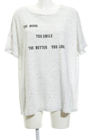 Opus T-Shirt wollweiß-schwarz meliert Casual-Look