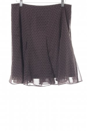 Opus Circle Skirt dark brown-cream abstract pattern retro look