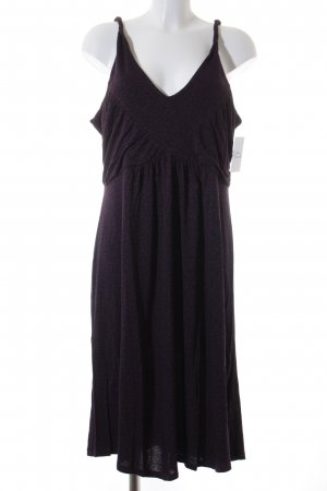 Opus Trägerkleid purpur-graulila Punktemuster Beach-Look