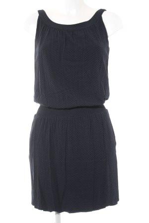Opus Trägerkleid schwarz-dunkelblau Punktemuster Casual-Look
