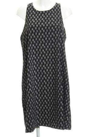 Opus Trägerkleid weiß-schwarz abstraktes Muster Casual-Look