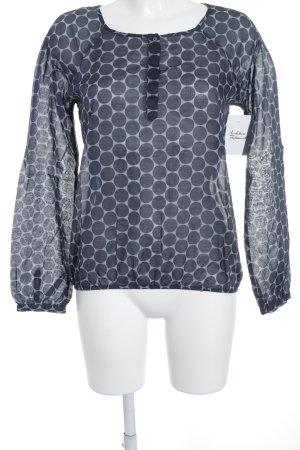 Opus Blusa a tunica grigio-blu scuro motivo a pallini