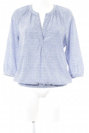 Opus Tunikabluse himmelblau-weiß grafisches Muster Casual-Look