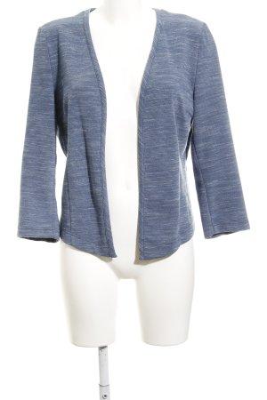 Opus Tweed blazer leigrijs-wit gestippeld casual uitstraling