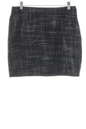 Opus Tweedrock schwarz-grau Karomuster Elegant