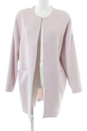 Opus Übergangsmantel pink Zopfmuster Business-Look