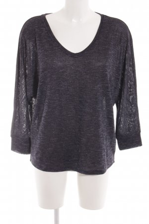 Opus V-Neck Sweater dark blue-azure flecked casual look