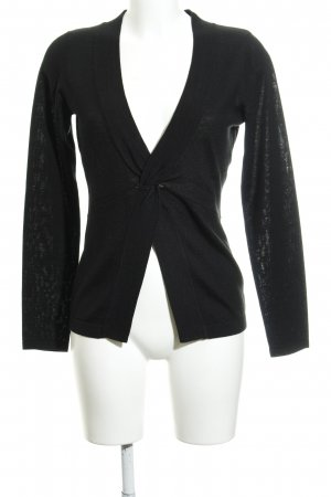 Opus V-Ausschnitt-Pullover schwarz Casual-Look