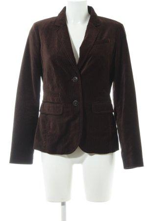 Opus Blazer in lana marrone scuro-crema motivo a pallini stile casual