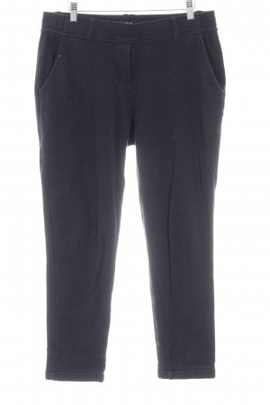 Opus Woolen Trousers dark blue pinstripe Logo application (metal)