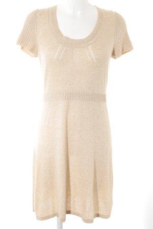 Opus Vestito di lana crema-beige Motivo a maglia leggera stile casual
