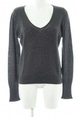 Opus Wollpullover anthrazit meliert Casual-Look
