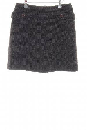 Opus Jupe en laine noir-brun Motif de tissage style d'affaires