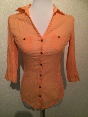 orange / apricot / lachs Bluse mit Stretch von Orsay - Gr. S