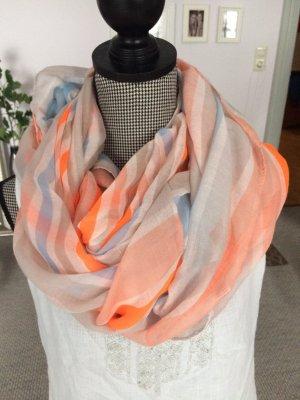 Orange-blau-Weißer Schal / Loop