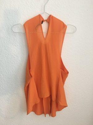 Orange Bluse ohne Ärmel
