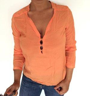 Orange Bluse von Zara