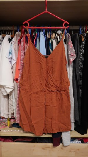 Orange Brauner Jumpsuit