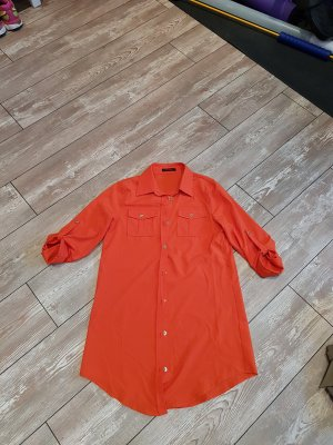 Orange Casual Loose Fit Hemd