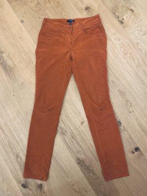 Atelier Gardeur Corduroy Trousers dark orange cotton