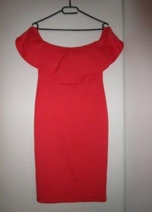 New Look Off-The-Shoulder Dress orange-neon orange