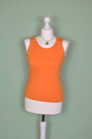 Orange Farbenes Top mit Schleife