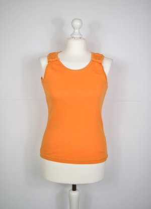 Orange Farbenes Top mit Schleife
