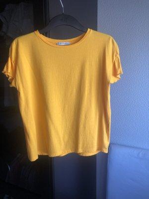 Orange/gelbes T-Shirt, Zara