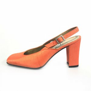 Gianni Versace High-Heeled Sandals orange