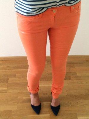Orange-glänzende Jeans von 7 for all Mankind