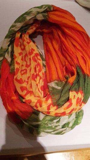 orange grün gemusterter Schal