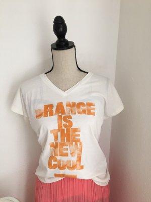 Boss Orange Camicia a tunica crema-arancione Cotone