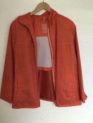 Orange Jacke mit weißen Details Gr. 40