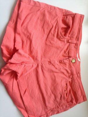 Orange/Lachsfarbene Hotpants
