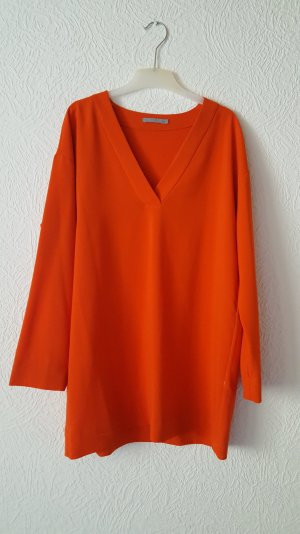 Orange Langarm Bluse