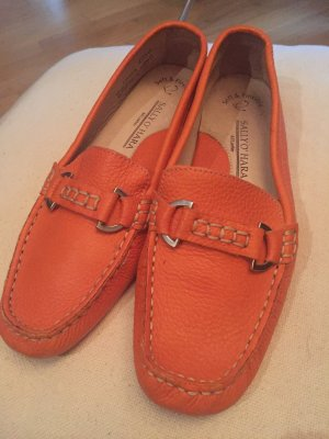 Sally O'Hara Mocassins orange foncé