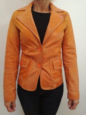 Orange Lederjacke Gr. XS