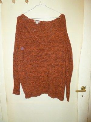 Orange-melierter Pullover
