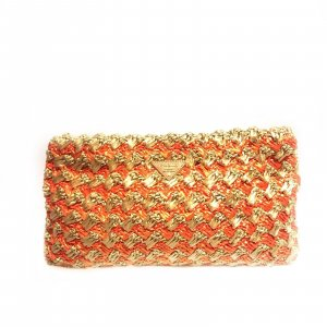 Orange  Prada Clutch