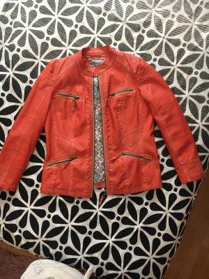 Orange  premium Leder Jacke (neue)