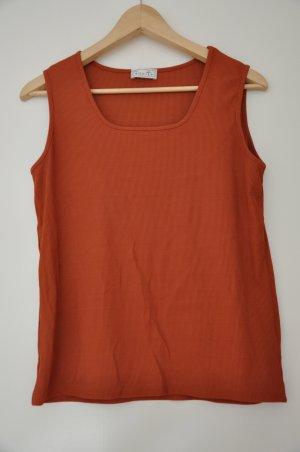 Orange (rot braun, ocker) Top von Bonita in Größe L