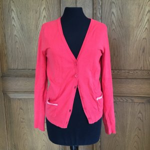 orange-roter Strick Cardigan 70ies style
