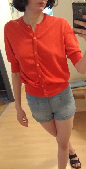 Camicia maglia rosso-arancio neon Cotone
