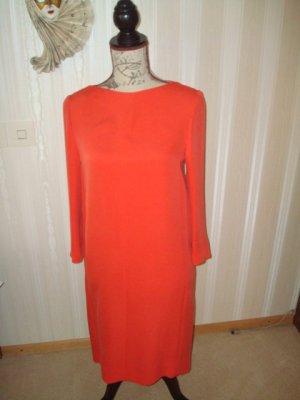 orange-rotes schlicht-fallendes Kleid von CACHAREL