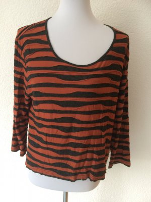 orange schwarzes Shirt / Dreiviertelarmshirt von Gerry Weber - Gr. M