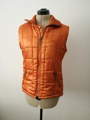 H&M Gewatteerd vest oranje-donker oranje