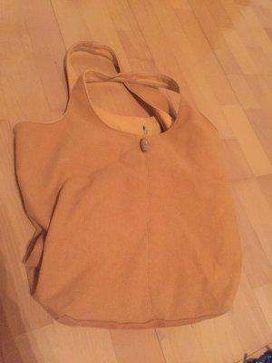 Orange Stofftasche mit 2 Henkel