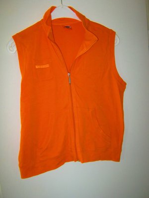 orange Sweat-Weste